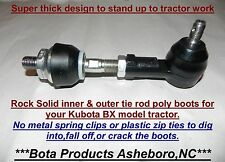 Kubota BX & GR Tractor inner & outer tie rod replacement boots Fits up to BX23s