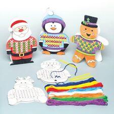 Paquete De 6 Tarjetas de puntada cruzada Principiantes Navidad Santa Muñeco De Nieve Reno niños mayores de 5+