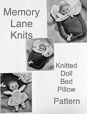 Doll & Bed Toy Vintage Knitting PATTERN Miniature Baby Bunting.               HH