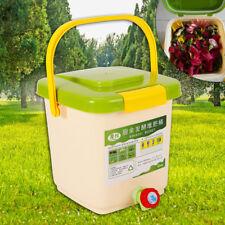 12L Bokashi Eimer Kompostbehälter Küchenkomposter Starterset Belüftet Huas Küch