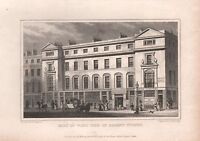 1829 ANTIQUE PRINT-SHEPHERD - LONDON -  PART OF WEST SIDE OF REGENT STREET