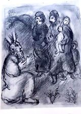 Marc Chagall offset lithograph Bible  paris maeght 1960 original  2 sided 114