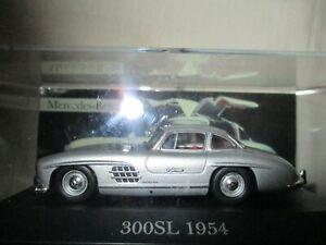Miniature IXO Mercedes 300 Sl Grey 1954 Altaya 1/43