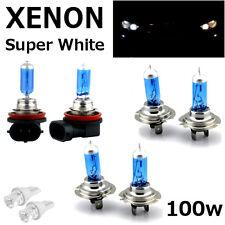 H7 H7 H11 100w SUPERWHITE XENON UPGRADE HID Headlight Bulbs SET 12v HIGH/LOW/FOG