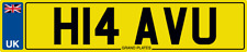 HAVE YOU NUMBER PLATE BEAT YOU RACING WINNING WINNER H14 AVU REG I WON RACE REG