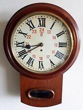 """Reloj De Pared Antiguo fusee 8 día Estación de latón clave de caoba Dial del reloj 12"""""""