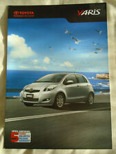 Toyota Yaris brochure c2011 UAE market English text
