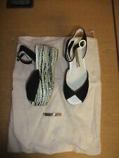 Chaussures femmes Sophia Webster UE 35 Noir Avec Noir/Blanc/Argent Plateforme 3257
