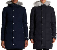 NEW SPYDER LAVINIA PARKA DOWN JACKET Choose Black/Frontier Blue - Faux Fur $350