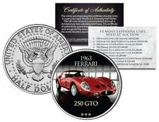 1963 FERRARI 250 GTO *Expensive Auction Cars* Colorized JFK Half Dollar US Coin