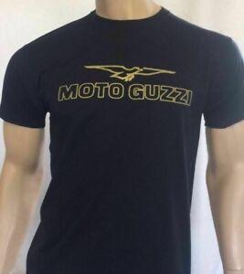 MOTO GUZZI ITALIAN MOTORCYCLE T-SHIRT - MOTORBIKE - 100% COTTON in Size Small S