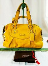 BEST OFFER COACH ASHLEY LEATHER SATCHEL SHOULDER BAG MUSTARD YELLOW PURSE F19247