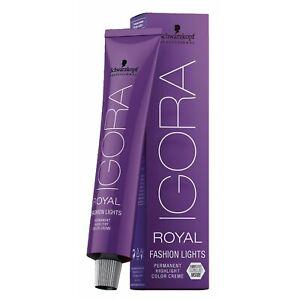 Schwarzkopf Igora Royal Fashion Lights Hair Color 60ml - IGORA ROYAL HAIR COLOUR