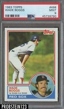 1983 Topps #498 Wade Boggs Boston Red Sox RC Rookie HOF PSA 9 MINT