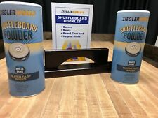 TWO CANS SUPER FAST SPEED TABLE SHUFFLEBOARD POWDER WAX+BOARD SWEEP+RULE BOOKLET