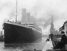 A3 SIZE Black & White - RMS Titanic White Star Line Ship Vintage Ocean Poster