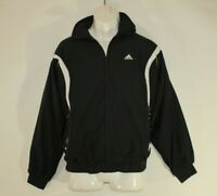 Vintage 80s Black & White Fabric ADIDAS Sport Wear Camping Men's Jacket Size M