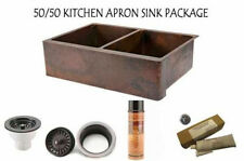 COPPER FARMHOUSE APRON KITCHEN SINK 50/50 PACKAGE