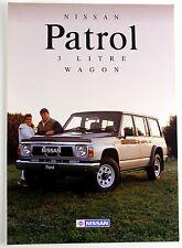 Nissan Patrol GQ Y60 1990 Sales Brochure NOS