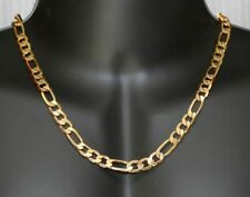 "Men's 18K Solid Gold Plated Cuban Link Chain Long Necklace 24"" 7mm Hip Hop"