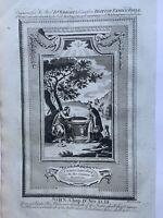 1770 Jesus Christ Converting Woman of Samaria Biblical Antique Print