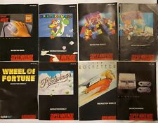 SNES Instruction Booklet Manual Lot Super mario world tetris rocketeer + MORE