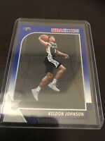 Panini NBA Hoops Keldon Johnson Blue Border Base RC Spurs 2020