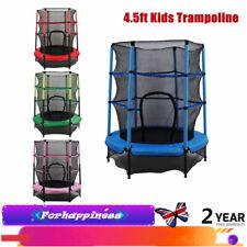 4.5ft Kids Trampoline 55in Toddler Fitness Jumping Toy Indoor/ Outdoor/Baseroom