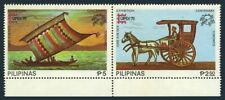 Philippines 1348-1350,1350e imperf.MNH. CAPEX-1978,UPU,Moro Vinta,Mail cart,Ship