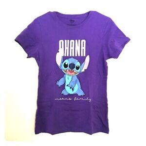 Disney's Lilo And Stitch Standard Purple Adult Woman's T-Shirt Ohana