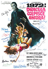 HAMMER HORROR LOT OF 5 MOVIE POSTERS CAST AUTOGRAPH SIGNED 8 X 11 LAMINATED