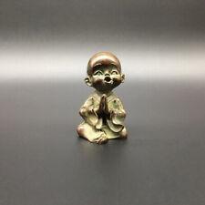 Statuette en cuivre Bouddha Sakyamuni, petit moine feng shui sculpture statue