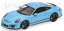 Porsche 911 R 991 GulfBlue Blue 1:43 Minichamps L.E.450 pcs