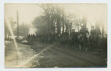 A Troop of WW1 Soldiers on Horseback World War One Real Photograph Postcard S20