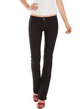 Damen Jeans Hosen bootcut low waist Hüftjeans Damenjeans stretch schwarz Neu