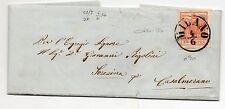 ANTICHI STATI 1856 LOMBARDO VENETO 15 CENTESIMI ROSSO VERMIGLIO D 05022