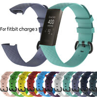 Replacement Silicone Watch Band WristBand Strap For Fitbit Charge 3 Smart Bracel
