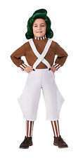 Kids Oompa Loompa Costume Willy Wonka & the Chocolate Factory Size Small 4-6