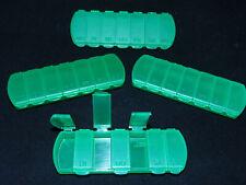 (3,48€/St) 4 Pillendosen Pillenbox Tablettendose Tablettenbox Pillendose 7Tage