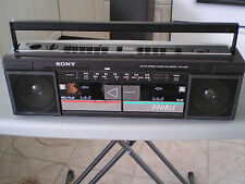 Vintage Sony AM/FM portable cassette radio model CFS-W30 boombox