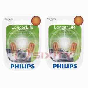 2 pc Philips Front Side Marker Light Bulbs for Chevrolet Astro Bel Air oj