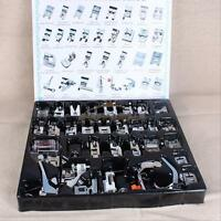 32PCS Domestic Sewing Machine Foot Presser Feet Set For Brother Singer Janome