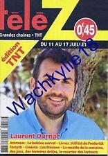 Télé Z n°1713 du 11/07/2015 Laurent Ournac