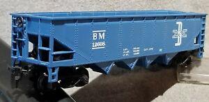 TYCO 344D BOSTON MAINE 40' Open 4-Bay Hopper BM 12608 Dark Blue RTR