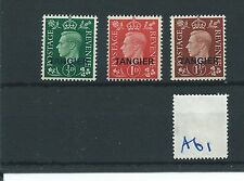 wbc. - GB Overprints - A61- MOROCCO AGENCIES -TANGIER -GEORGE V1 - 3 vals-  Mint