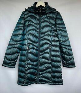 ANDREW MARC Ultra Light Packable Long Down Coat UK12 M Medium £200 *PERFECT *