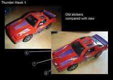 MASK M.A.S.K. Thunder Hawk Thunderhawk Ultimate Upgrade Sticker Kit