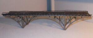HO SCALE TRAIN BRIDGE AS SHOWN 16 INCH LONG  3 TALL