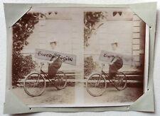 PHOTO 1897 famille GARIN PELTIER LA POSSONNIERE dame à vélo jupe culotte F190