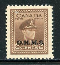 Canada Mnh Back of Book: Scott #O2 2c Brown Kgvi Ohms Cv$10+